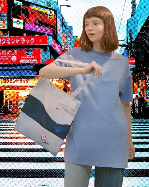 Jean's virtual trip 1 🌪 Tokyo  with Yizi canvas tote  muse - madness