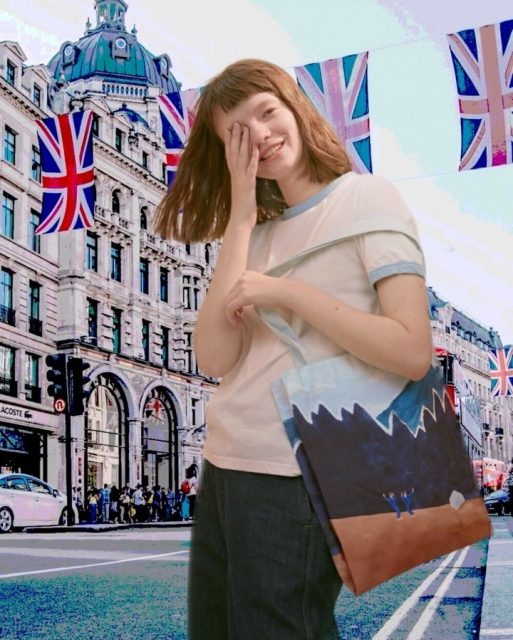 Jean's virtual trip 3 🇬🇧 with Yizi canvas tote