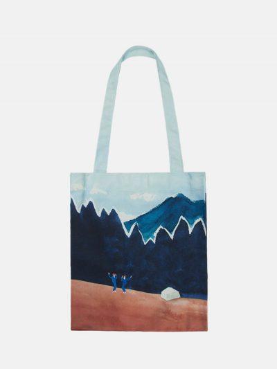 bolsa canvas paisaje monte tierra