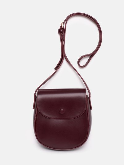 bolso saddle burdeos