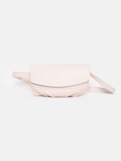 bolso soft motero blanco roto