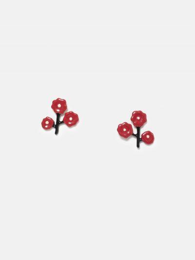 pendientes ramita flores