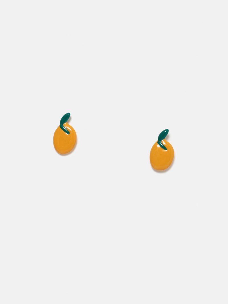 pendientes pequeña mandarina