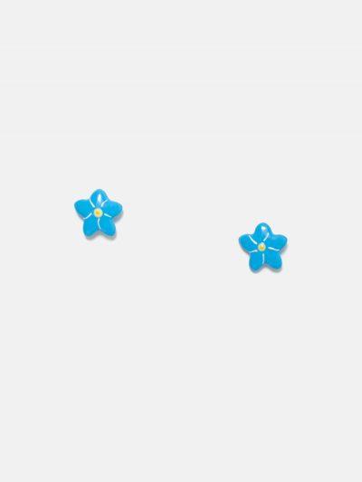 pendientes de flor de estrella azul