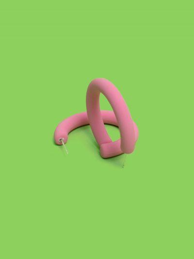 pendientes aro soft rosa