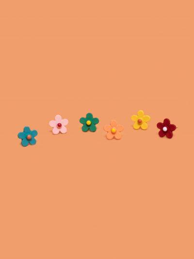 pack pendientes mini flor