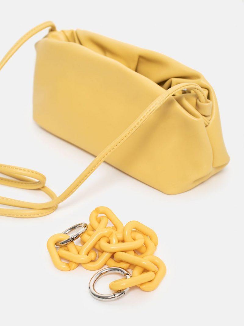 bolso cloudy square amarillo pastel detalle