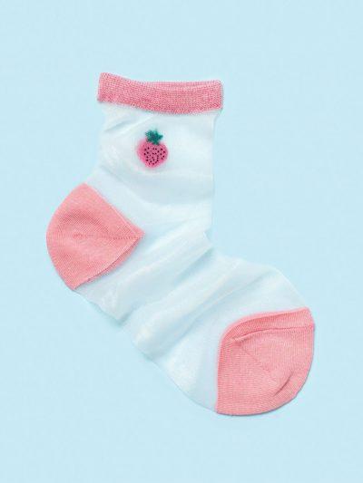 calcetines de malla silky strawberry