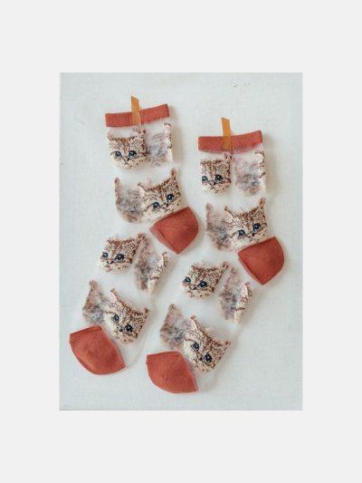 calcetines malla kitten teja