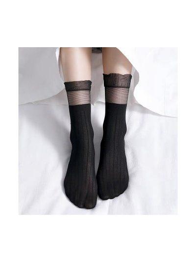 calcetines volantes negro con modelo