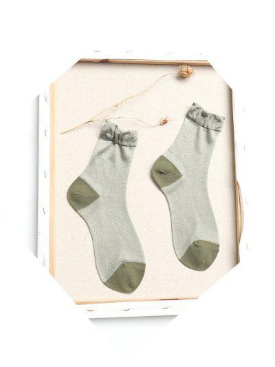 calcetines shimmer verde pastel