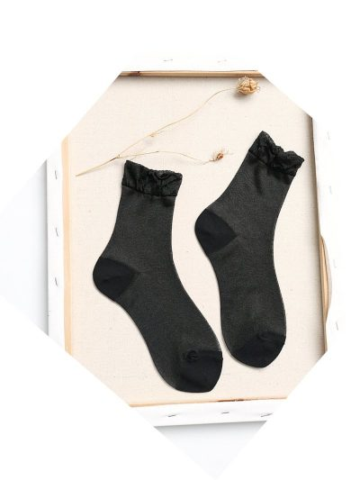 calcetines shimmer negro