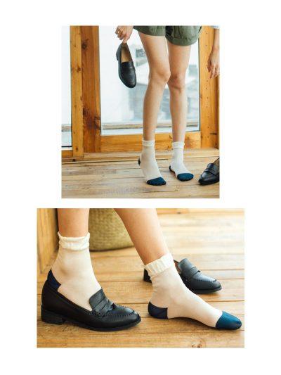 calcetines shimmer blanco roto con modelo