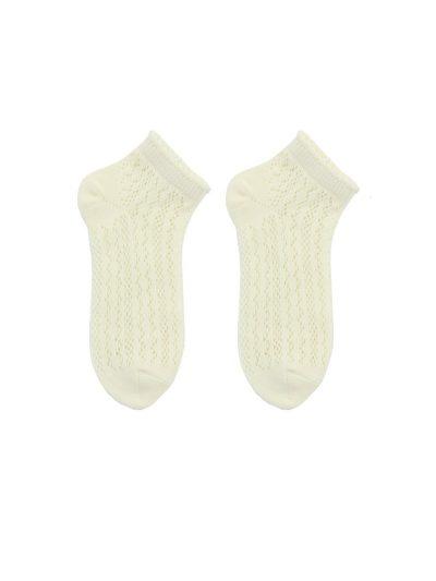 calcetines crochet blanco