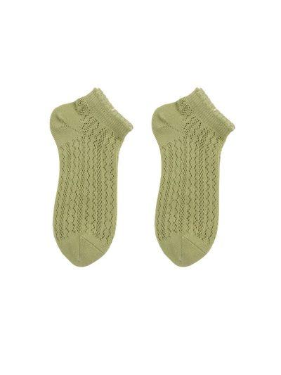 calcetines crochet verde pastel