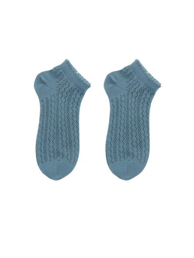 calcetines crochet teal