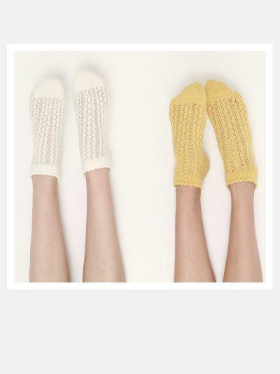 calcetines crochet con modelo