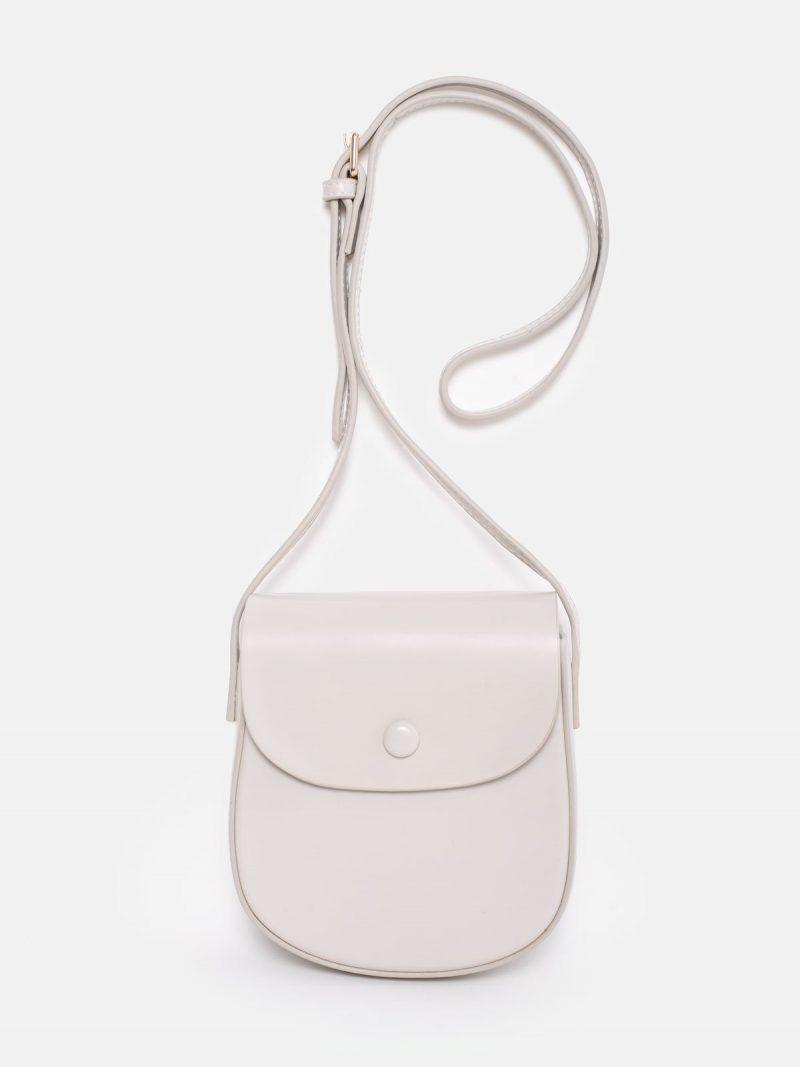 bolso saddle blanco marfil
