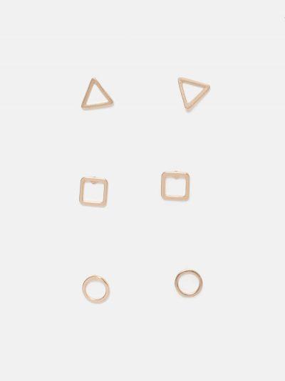 pack pendientes figuras geométricas dorado
