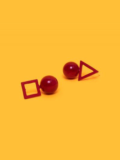 pendientes colgantes red con fondo