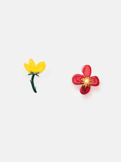 pendientes dos flores
