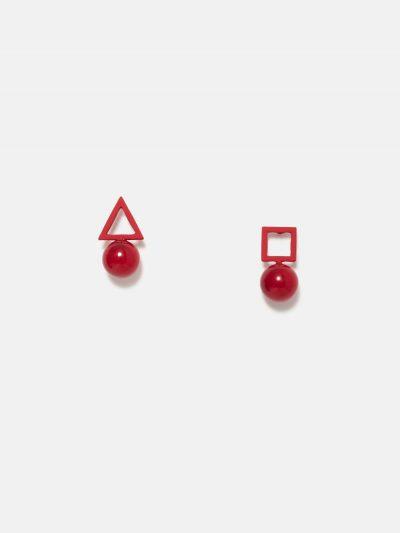pendientes colgantes red