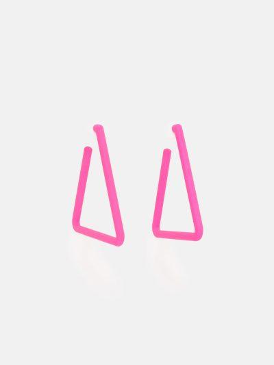 Pendientes Triangle Fucsia Neón