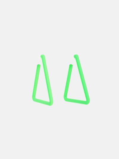 Pendientes Triangle Verde Flúor