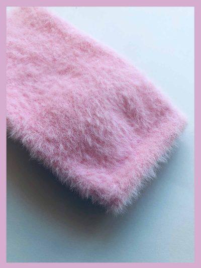 calcetines pelito rosa detalle