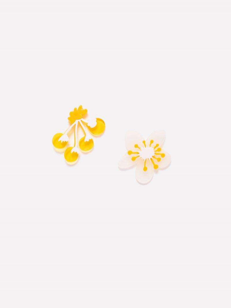 Pendientes Yellow Bloom fondo
